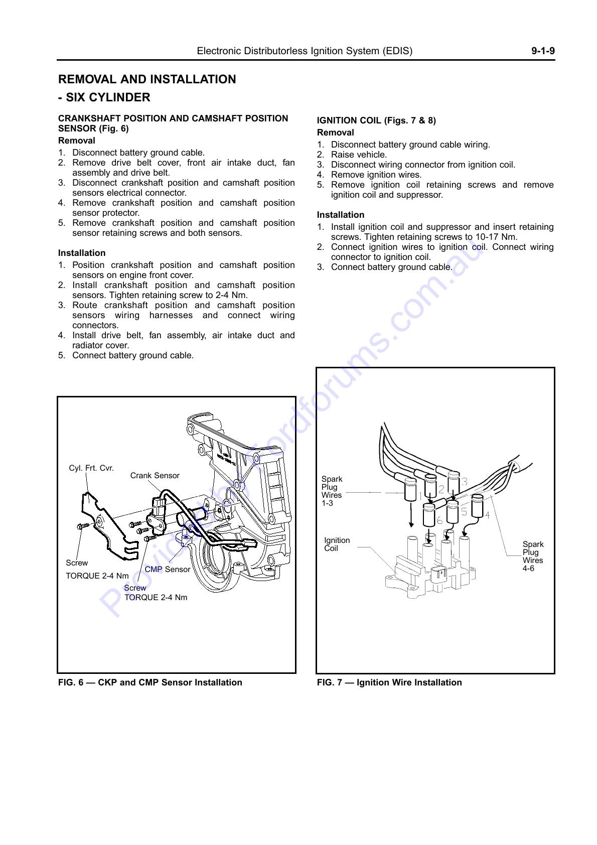 Electronic Distributorless Ignition System (EDIS)