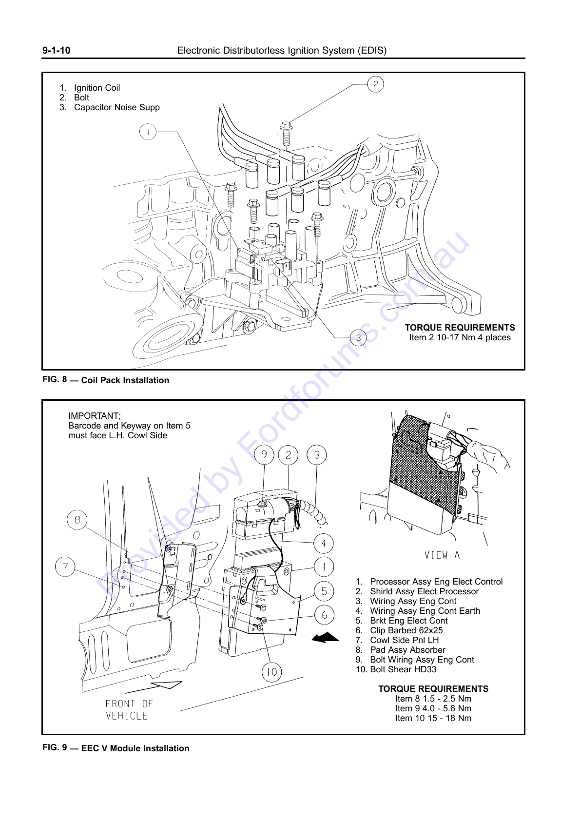 Au Wsm Page 1 Of 15 Ford Eec V Wiring Diagram Img