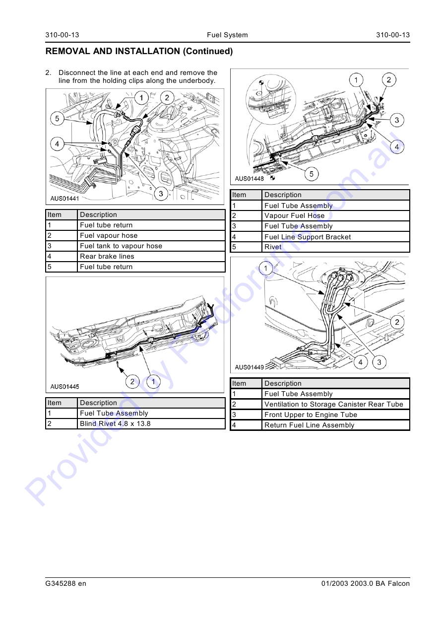 Au Wsm Page 1 Of 17 Ford Ba Ute Wiring Diagram Img