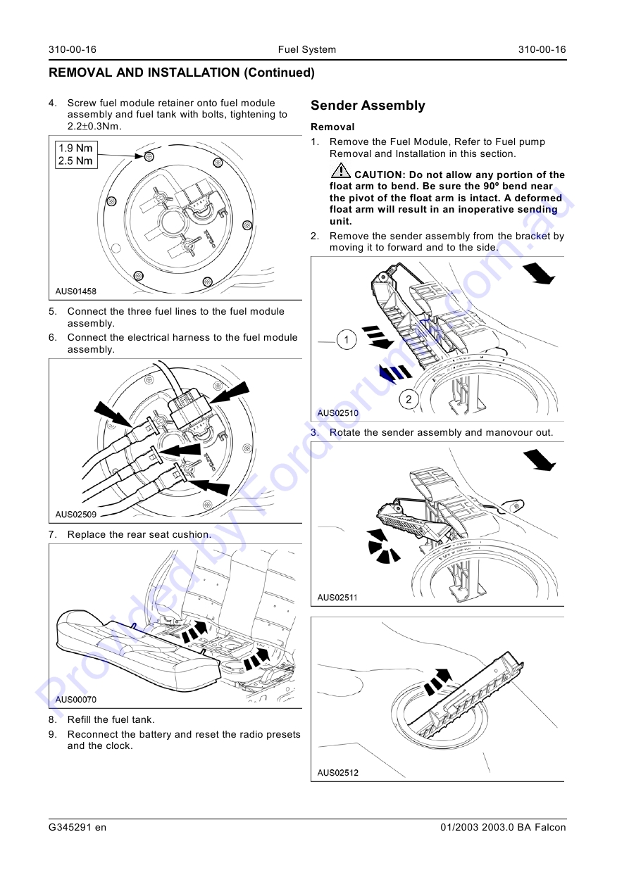 Au Wsm Page 1 Of 17 Falcon 90 Wiring Diagram Img