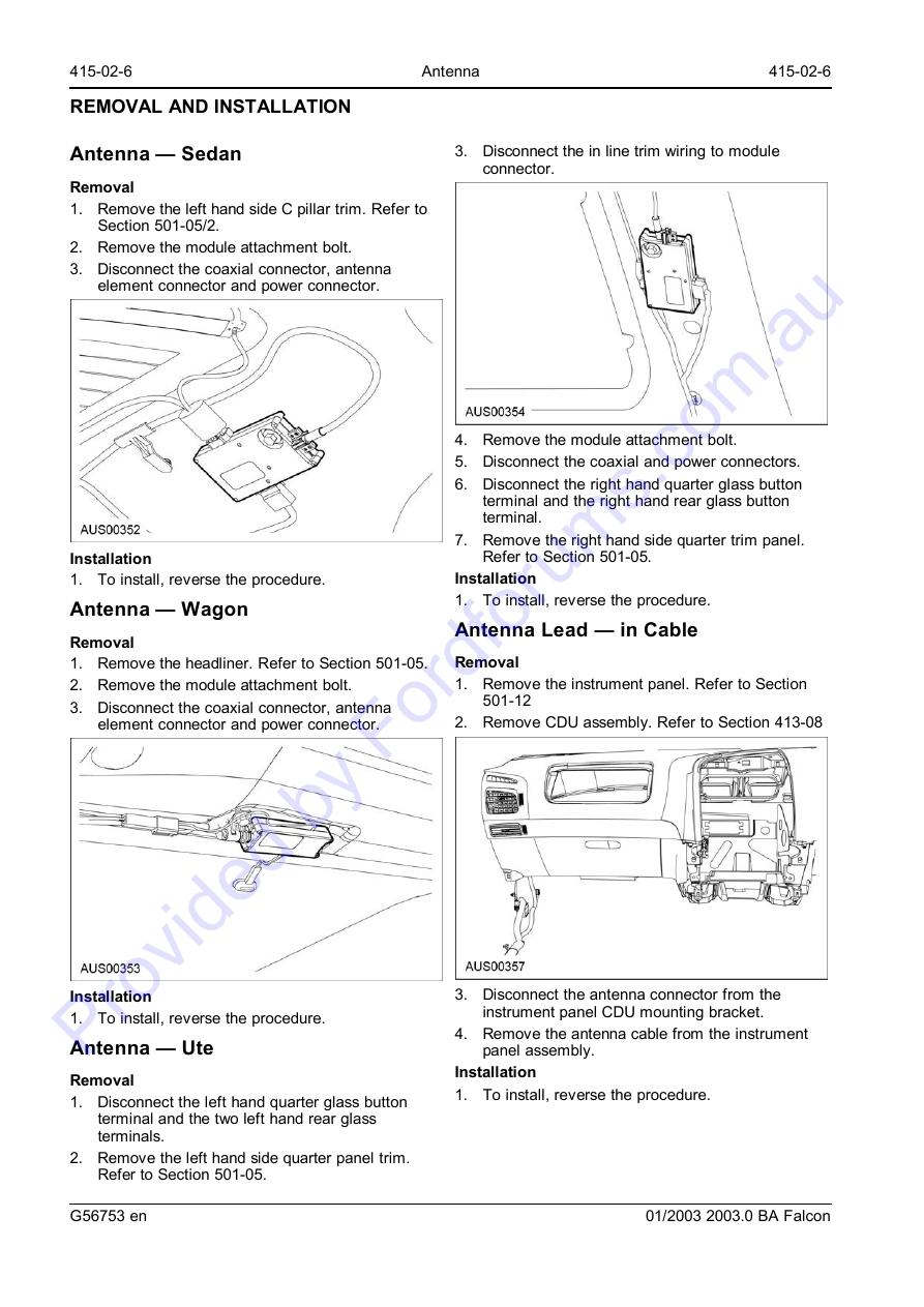 Au Wsm Page 1 Of 6 Ford Fg Ute Wiring Diagram Img