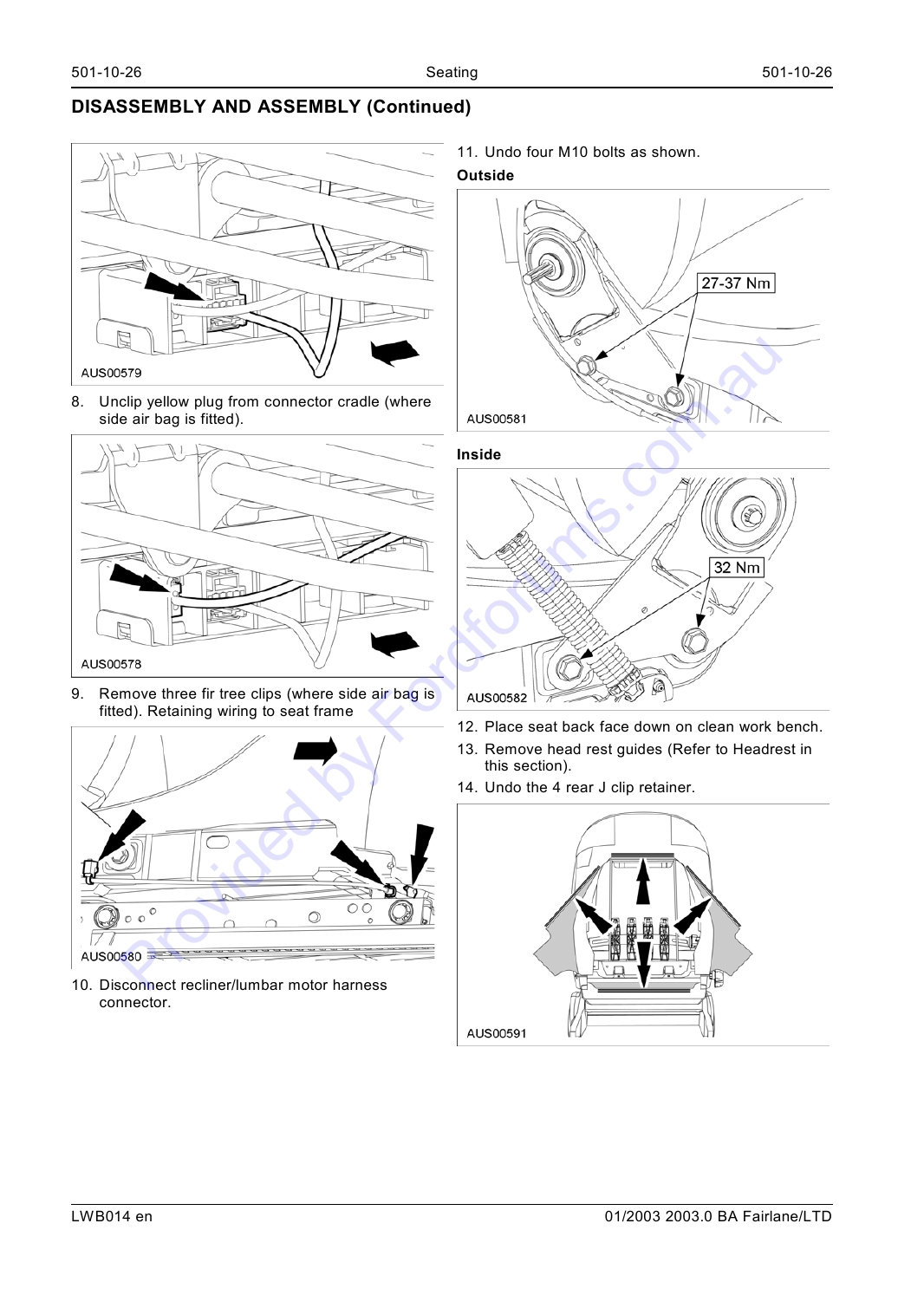 Ba Fairlane Wsm Page 1 Of 10 Wiring Harness Clips Removal Img