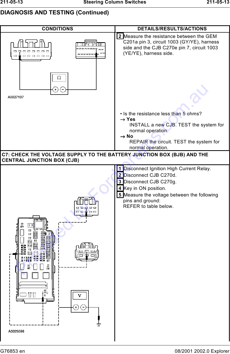 Ut Explorer 2001 03 Page 1 Of 22 Wiring Diagram For Ignition Vtween Img